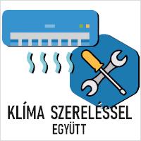 INVERTERES KLÍMA SZERELÉSSEL